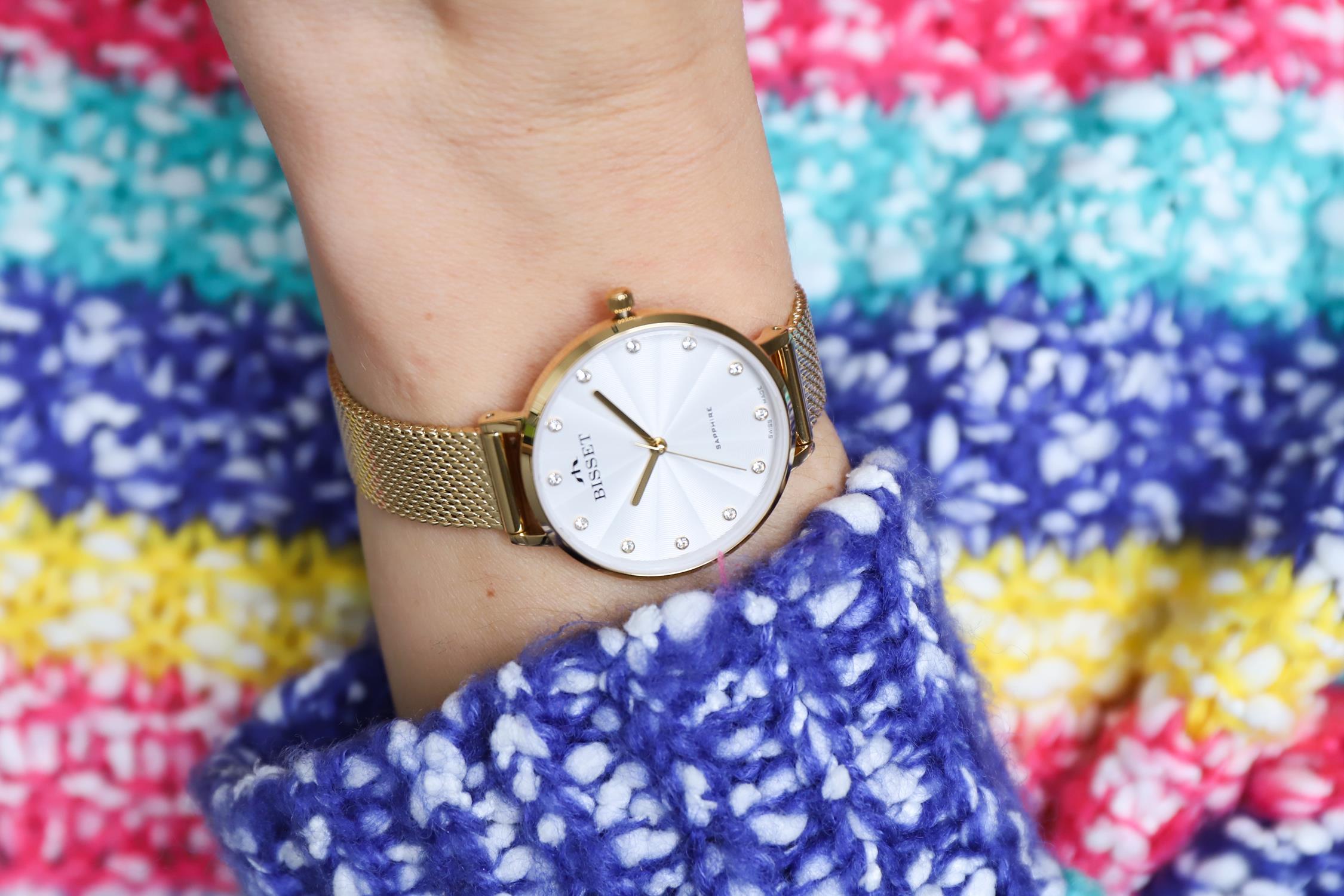 Zegarek damski Bisset klasyczne BSBF30GISX03BX - duże 4