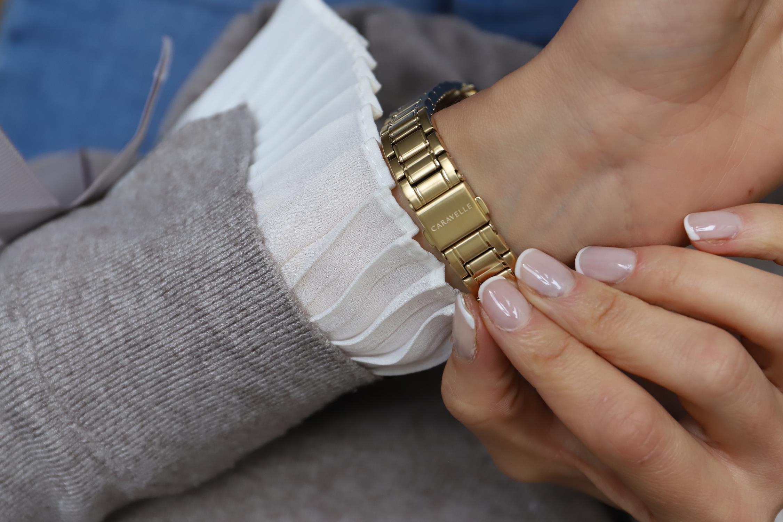 Zegarek damski Caravelle bransoleta 44P102 - duże 1