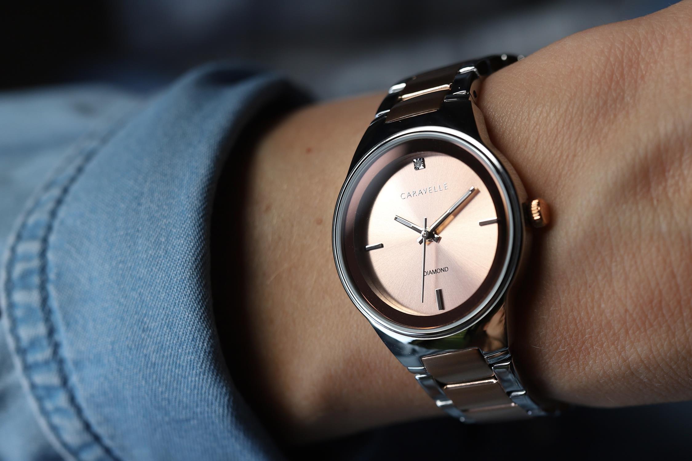 Zegarek damski Caravelle bransoleta 45P109 - duże 6