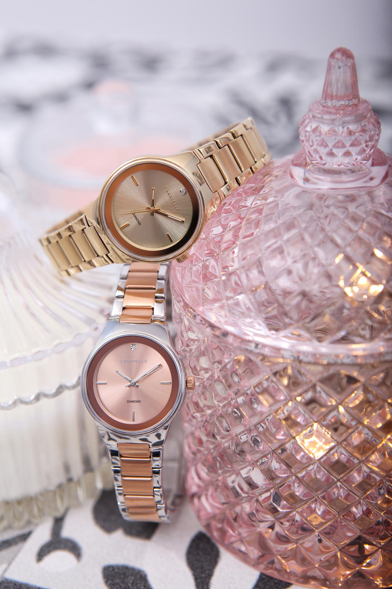 Zegarek damski Caravelle bransoleta 45P109 - duże 1