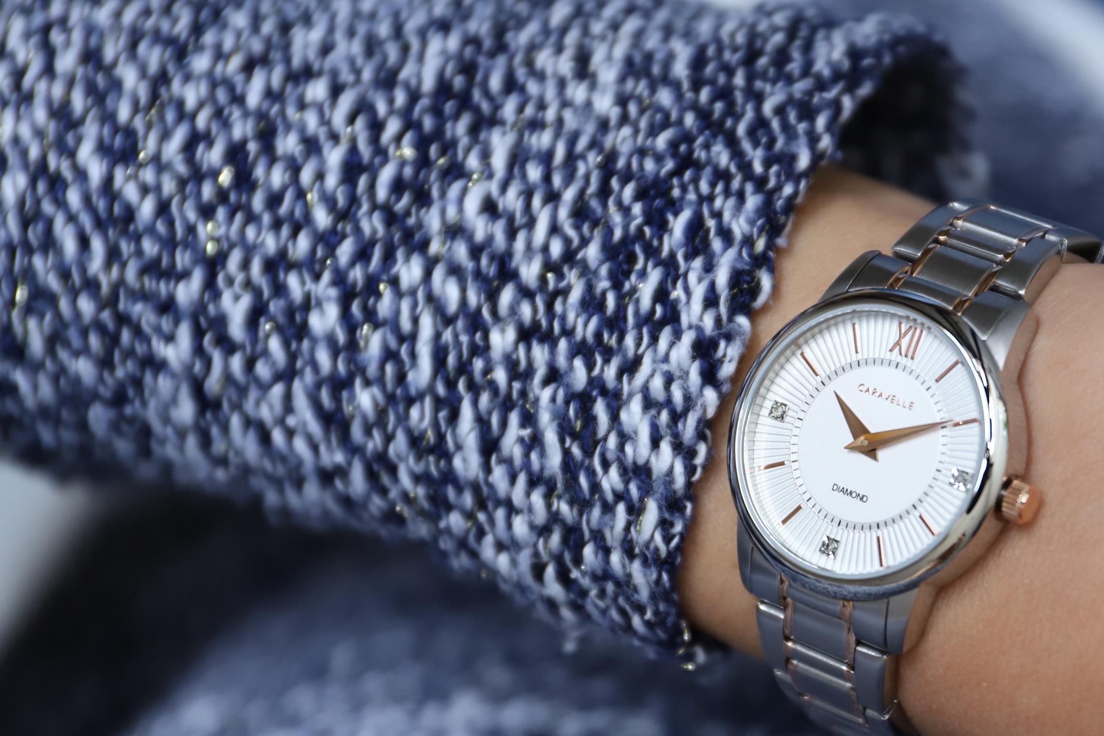 Zegarek damski Caravelle bransoleta 45P110 - duże 7