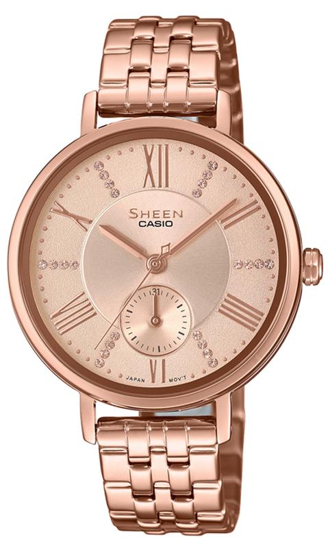 Zegarek damski Casio sheen SHE-3066PG-4AUEF - duże 1