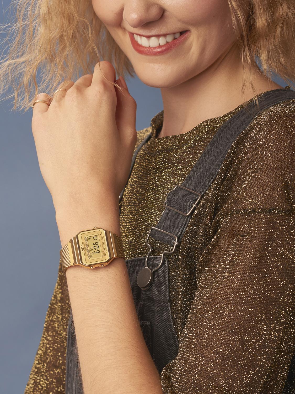 Zegarek damski Casio vintage A700WEMG-9AEF - duże 2