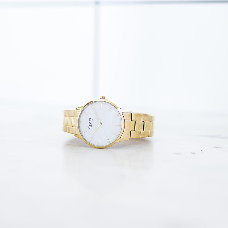 Zegarek damski Obaku Denmark slim V247LXGWSG - duże 5