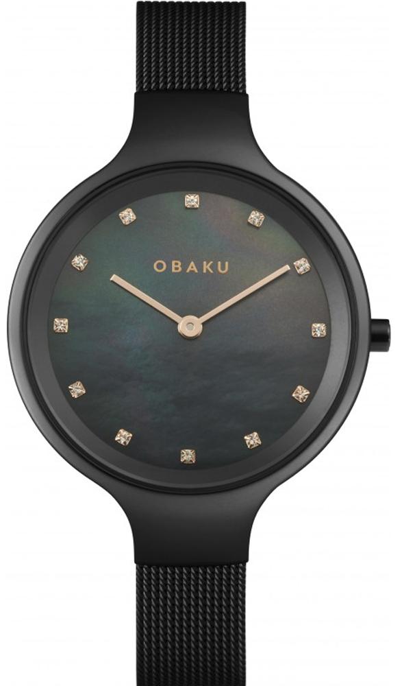 Zegarek damski Obaku Denmark slim V173LXBBMB2 - duże 1