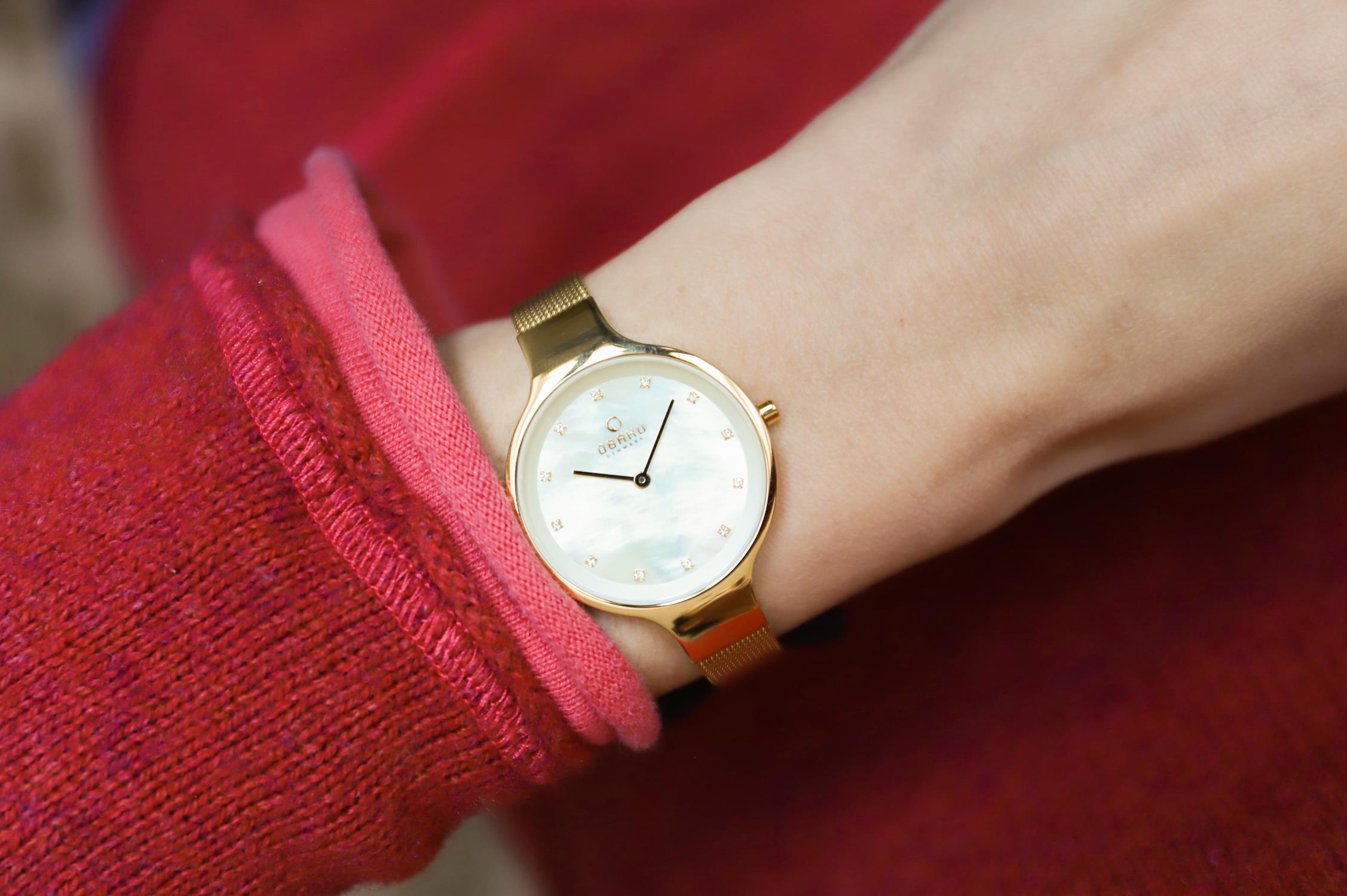 Zegarek damski Obaku Denmark slim V173LXGGMG - duże 4
