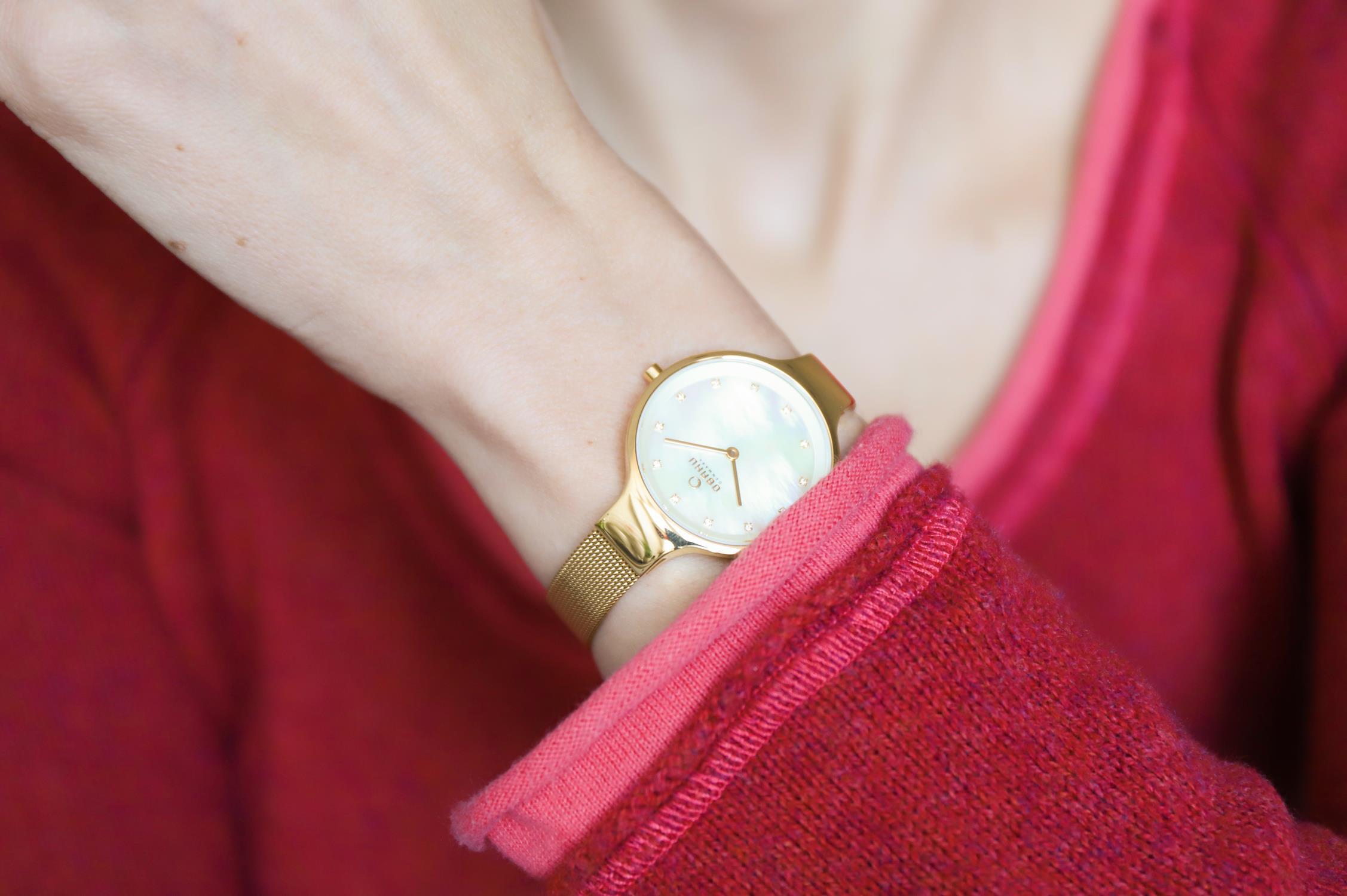 Zegarek damski Obaku Denmark slim V173LXGGMG - duże 6