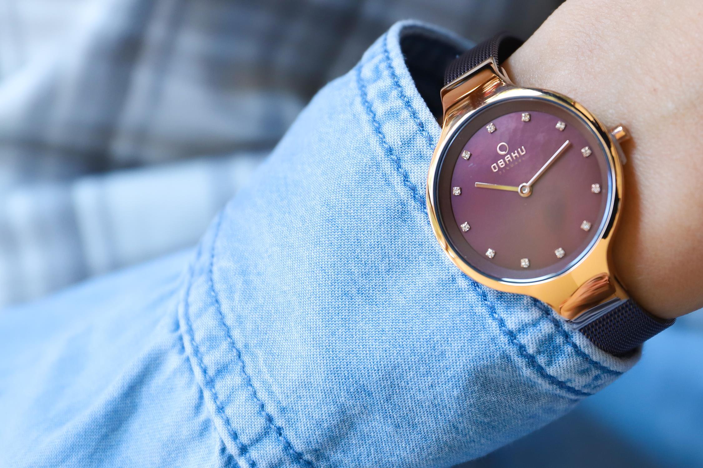 Zegarek damski Obaku Denmark slim V173LXVNMN - duże 3