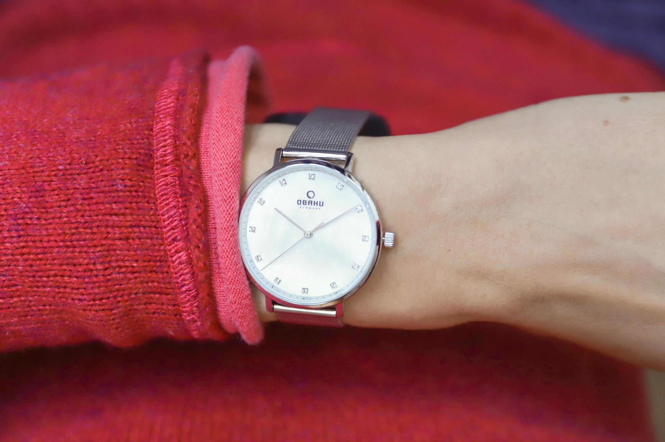 Zegarek damski Obaku Denmark slim V186LXCWMC - duże 3