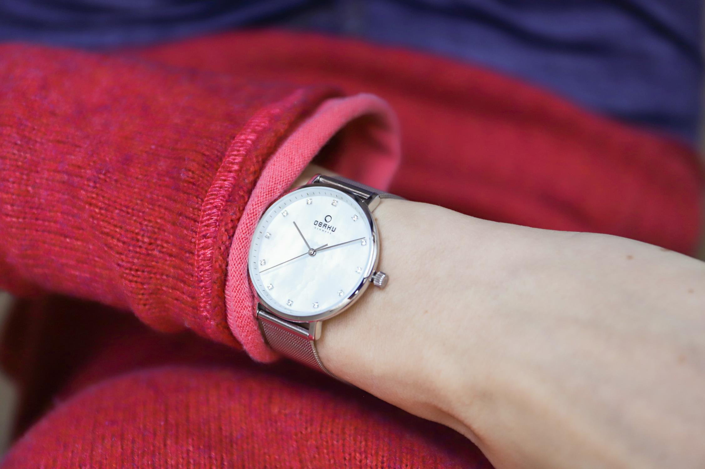 Zegarek damski Obaku Denmark slim V186LXCWMC - duże 2