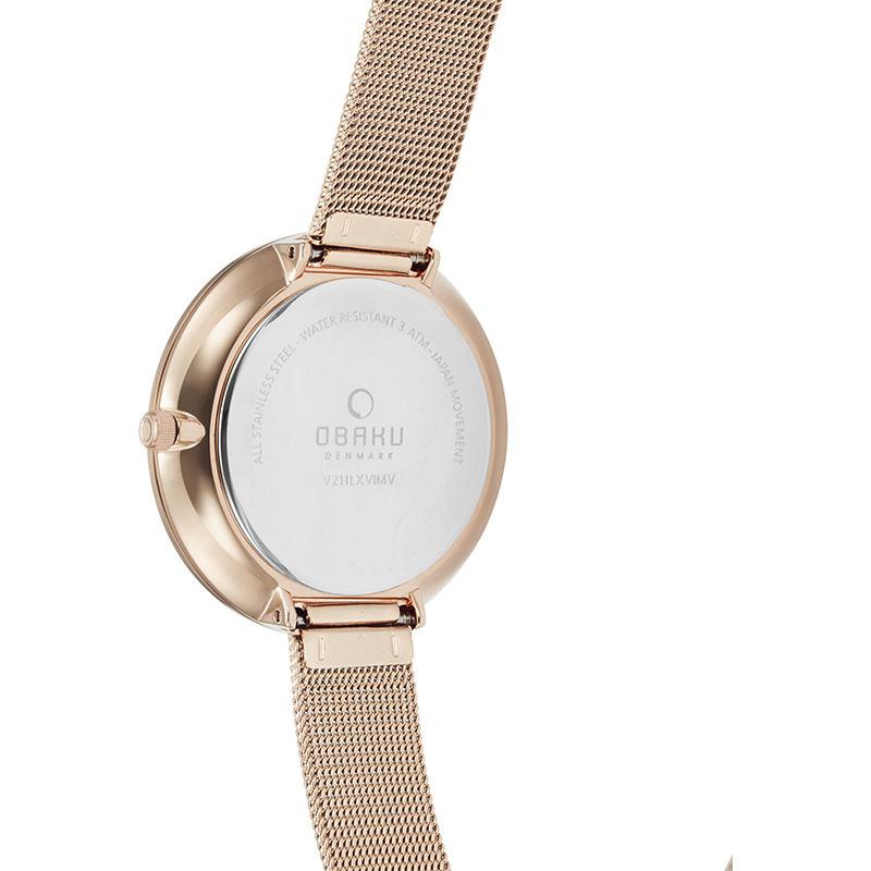 Zegarek damski Obaku Denmark slim V211LXVIMV - duże 2