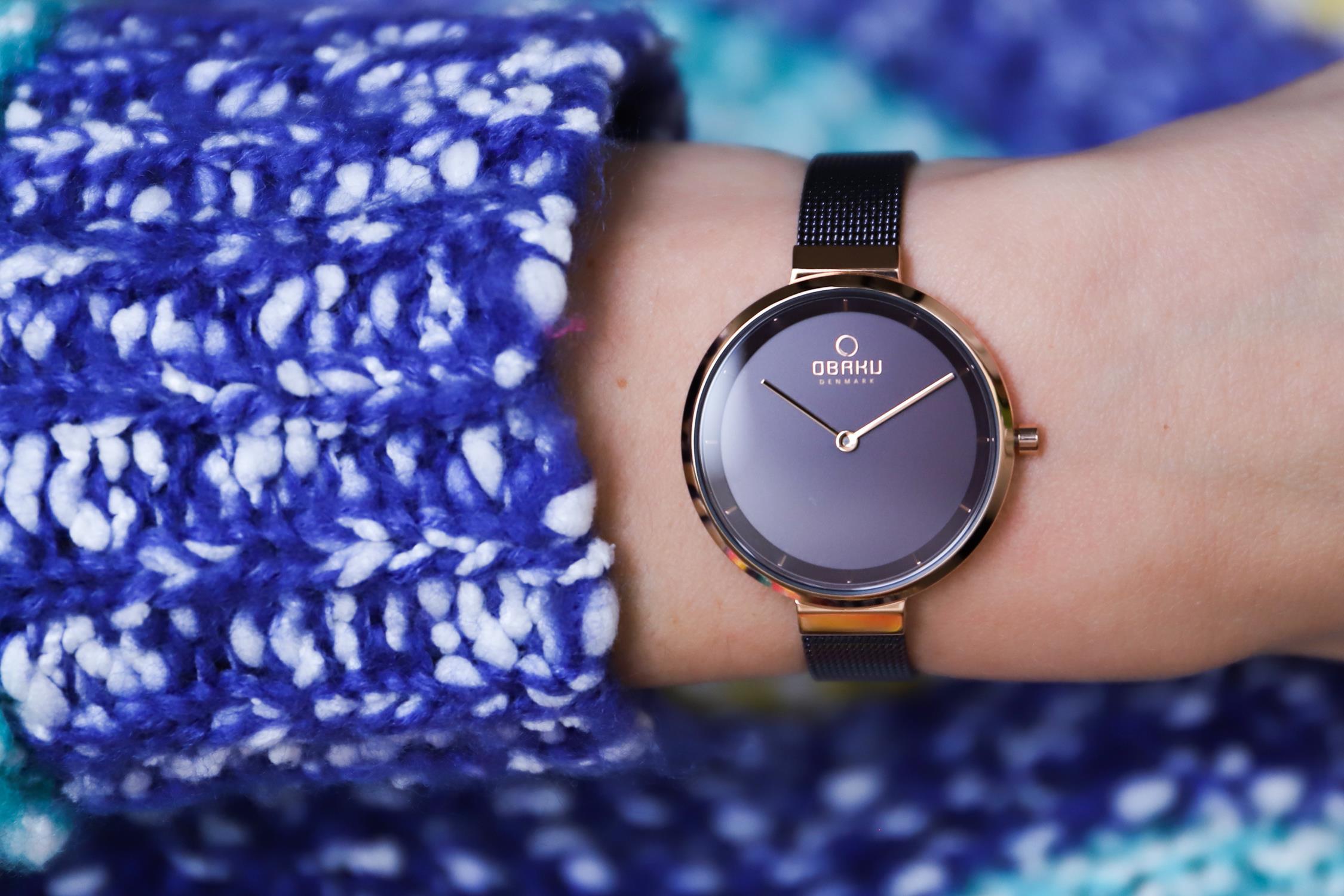 Zegarek damski Obaku Denmark slim V225LXVNMN - duże 2