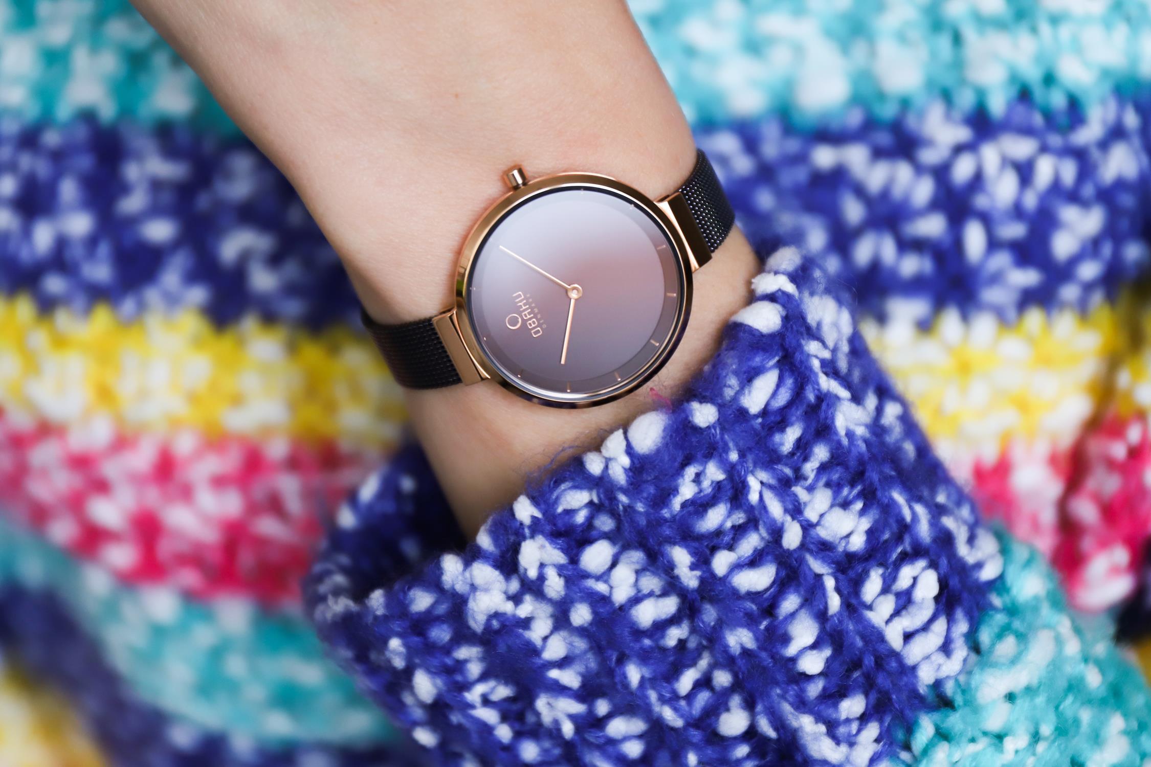 Zegarek damski Obaku Denmark slim V225LXVNMN - duże 4