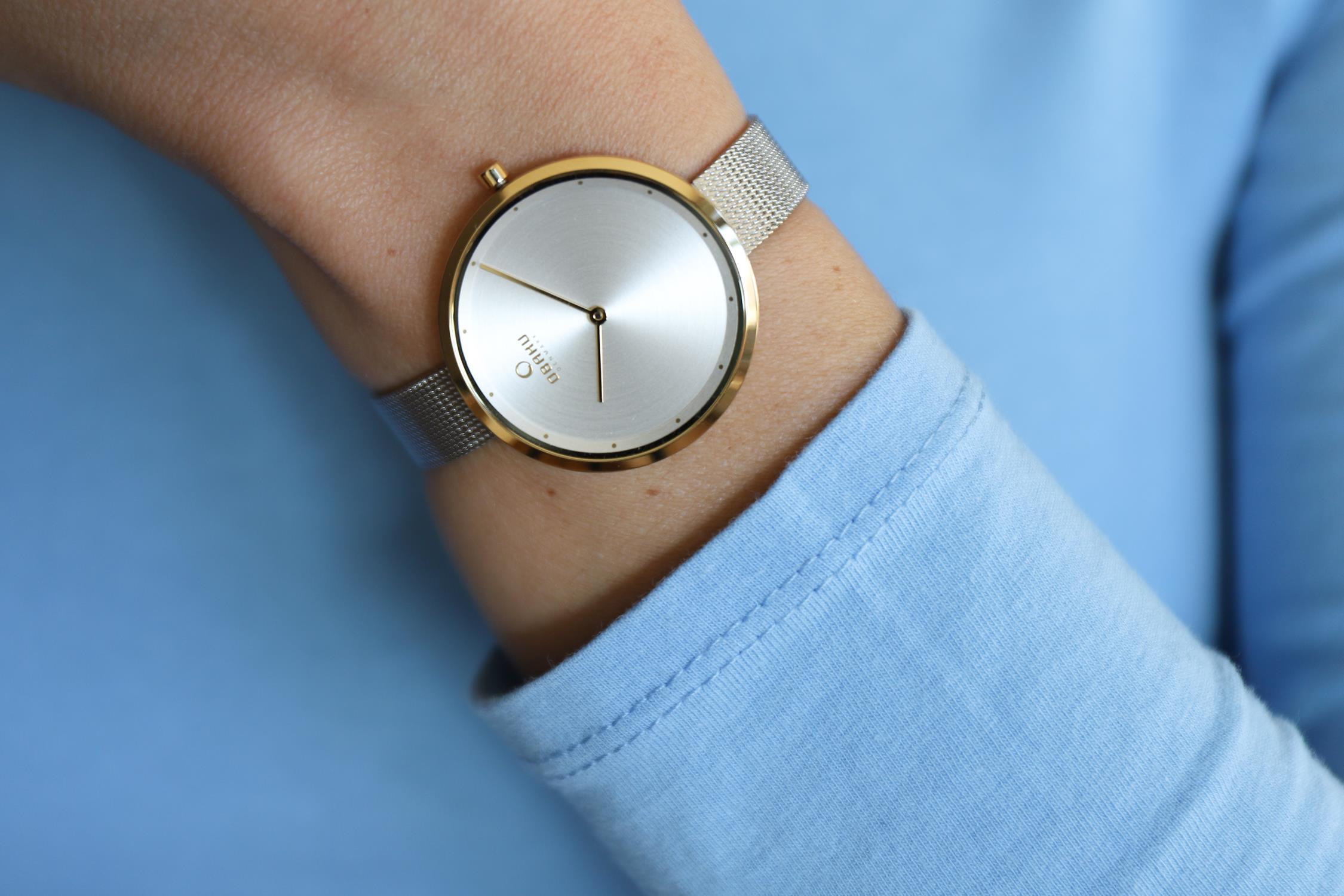 Zegarek damski Obaku Denmark slim V227LXGIMC - duże 4