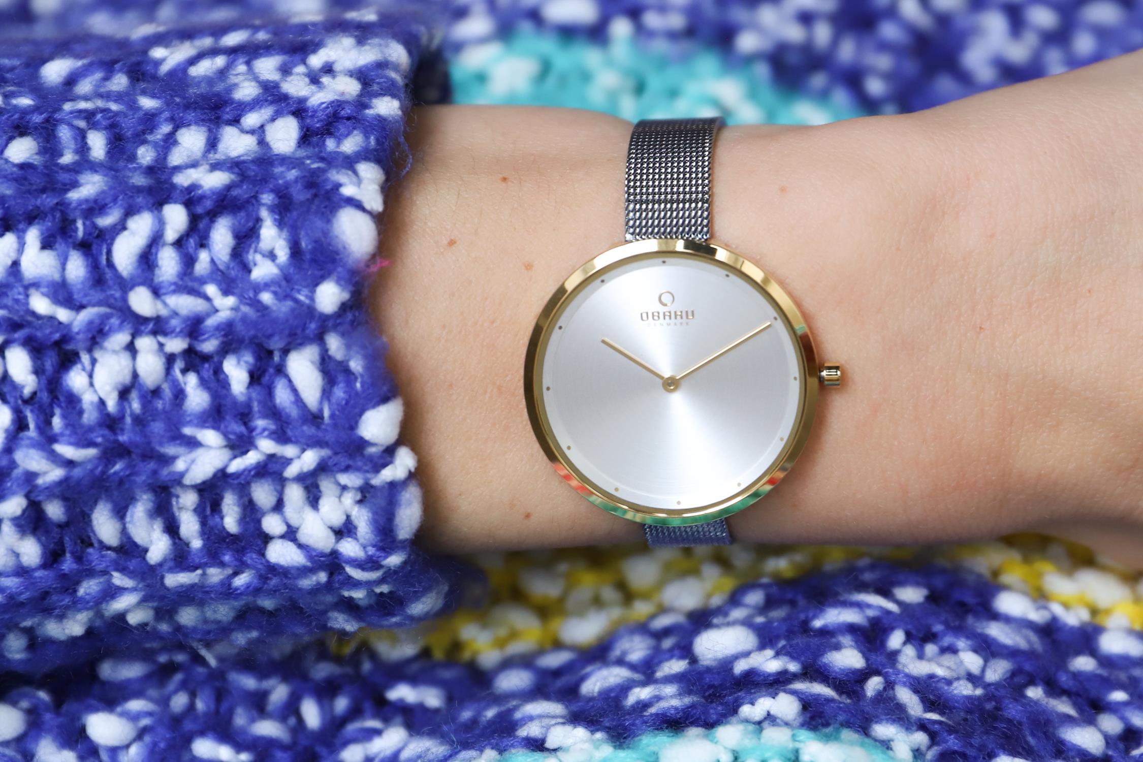 Zegarek damski Obaku Denmark slim V227LXGIMC - duże 1