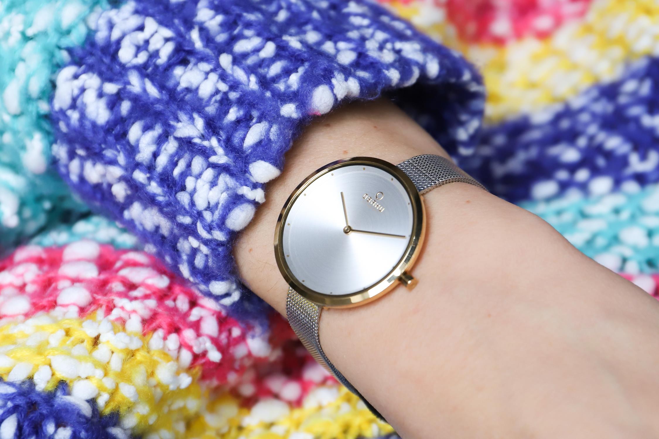 Zegarek damski Obaku Denmark slim V227LXGIMC - duże 2