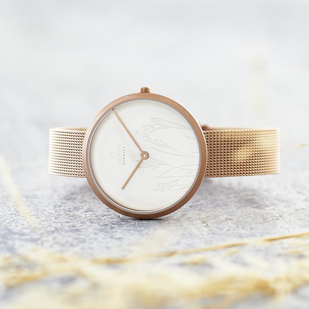 Zegarek damski Obaku Denmark slim V219LXVHMV - duże 4