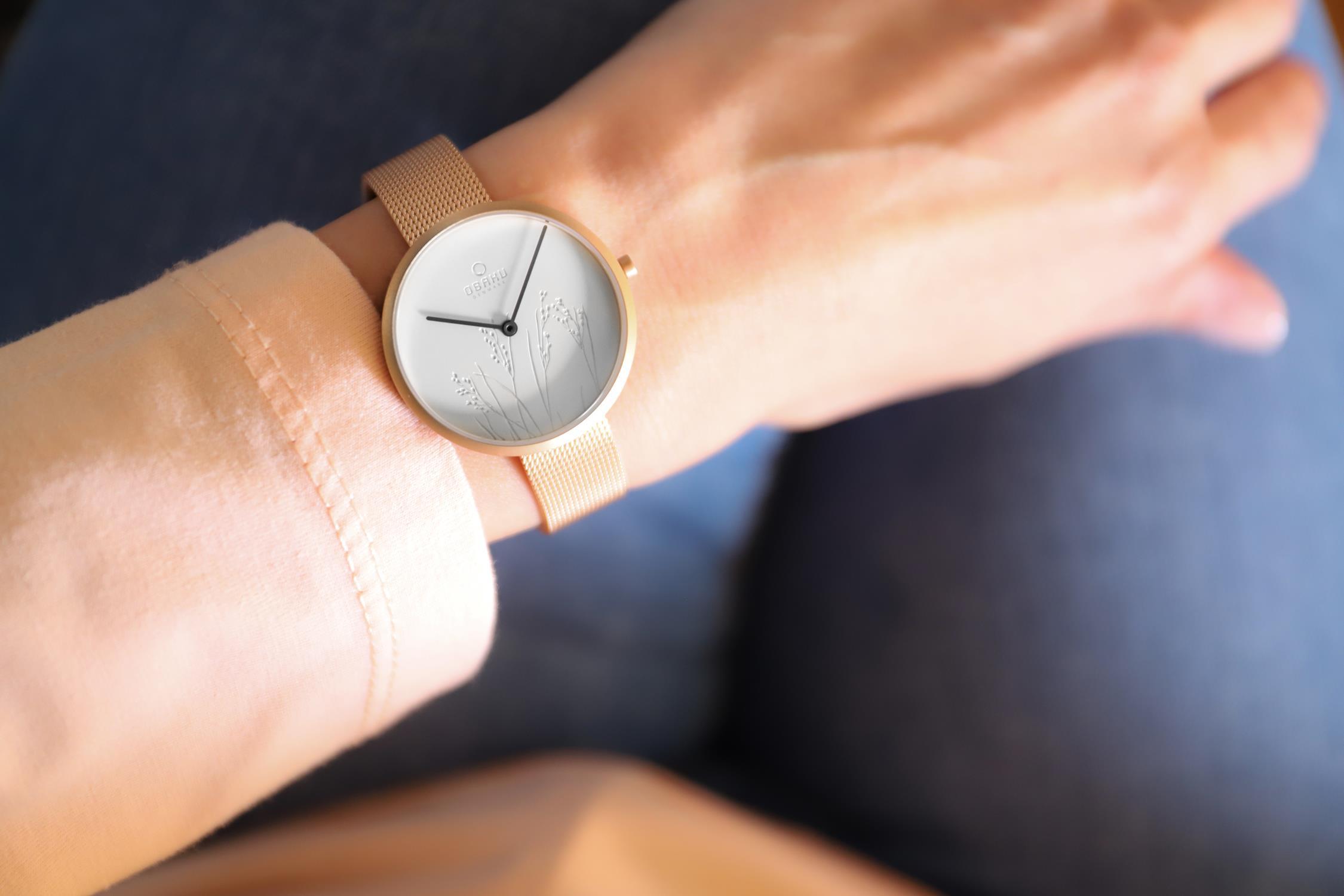 Zegarek damski Obaku Denmark slim V219LXVHMV - duże 2