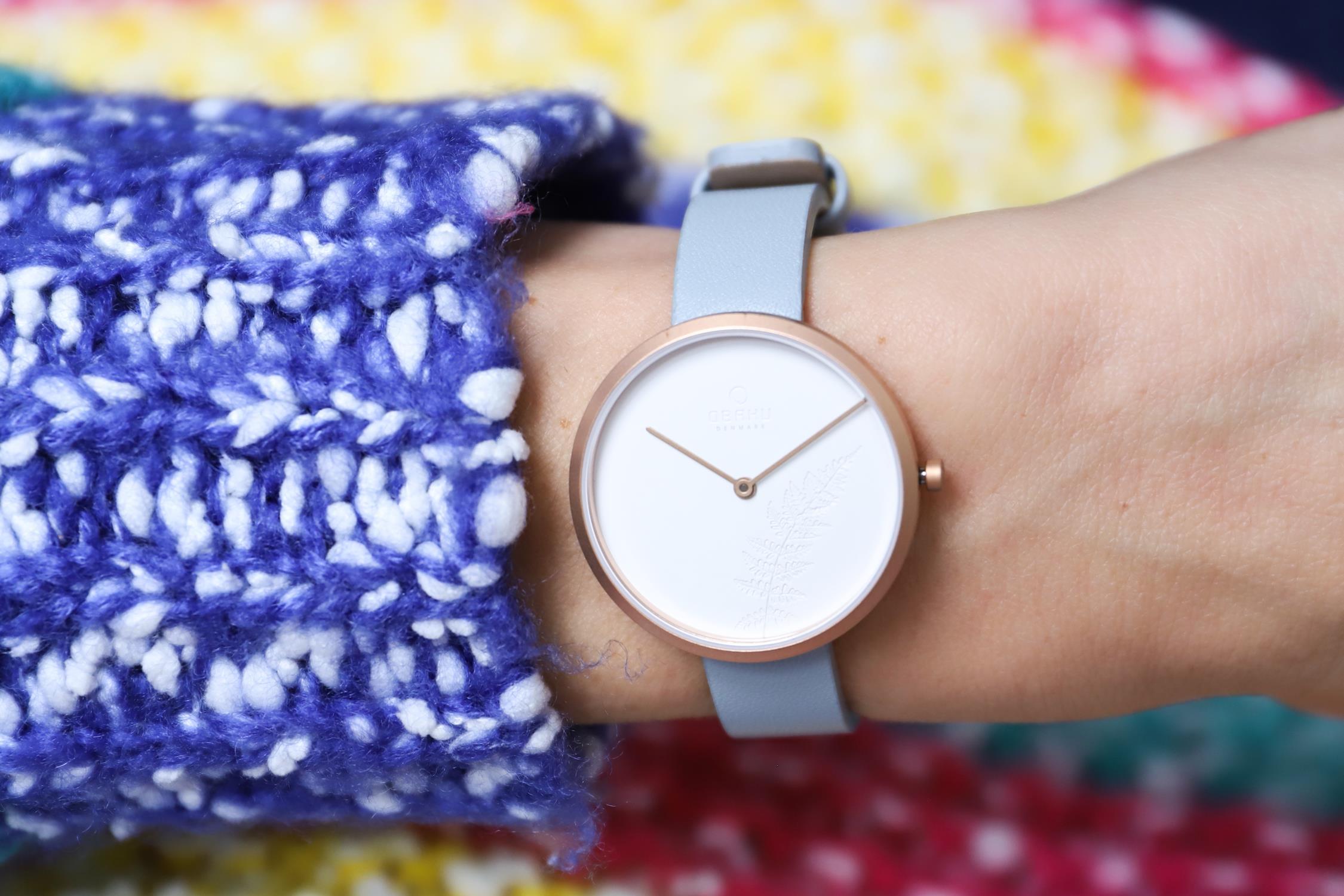 Zegarek damski Obaku Denmark slim V219LXVHRL - duże 1