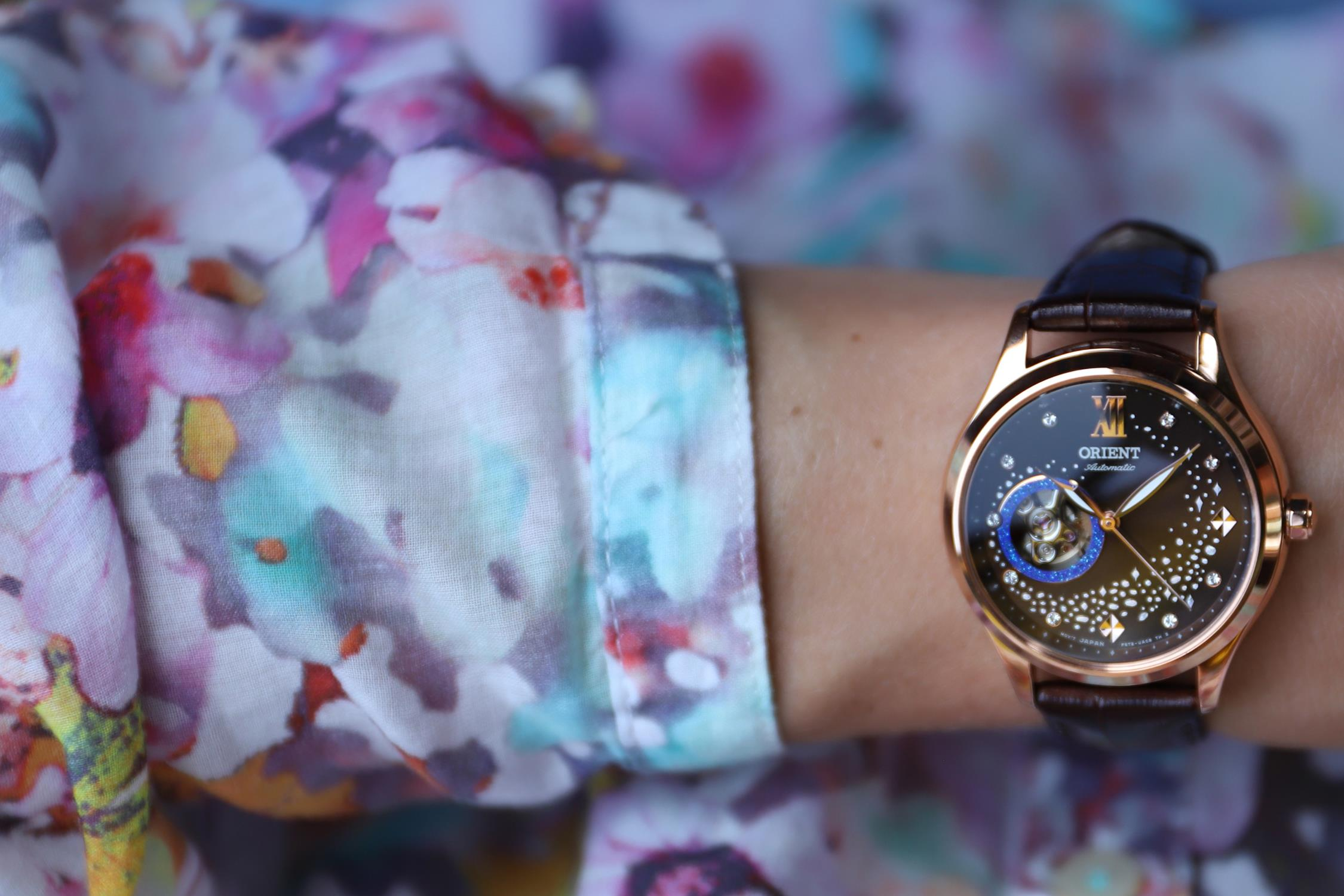 Zegarek damski Orient contemporary RA-AG0017Y10B - duże 5