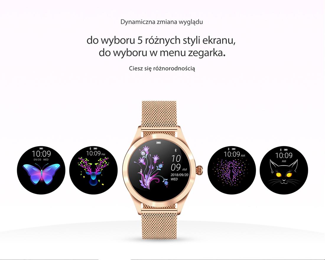 Zegarek damski Rubicon smartwatch RNBE37RIBX05AX - duże 4