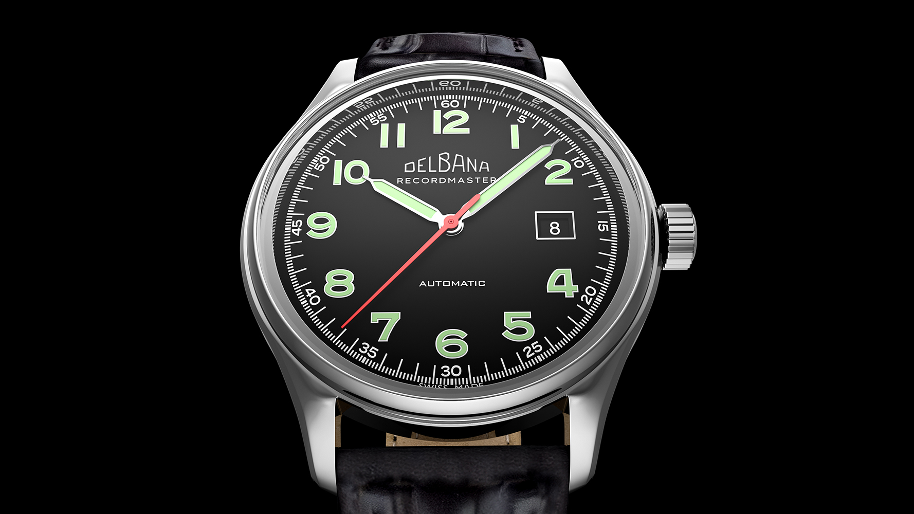Zegarek męski Delbana recordmaster 41602.722.6.032 - duże 4