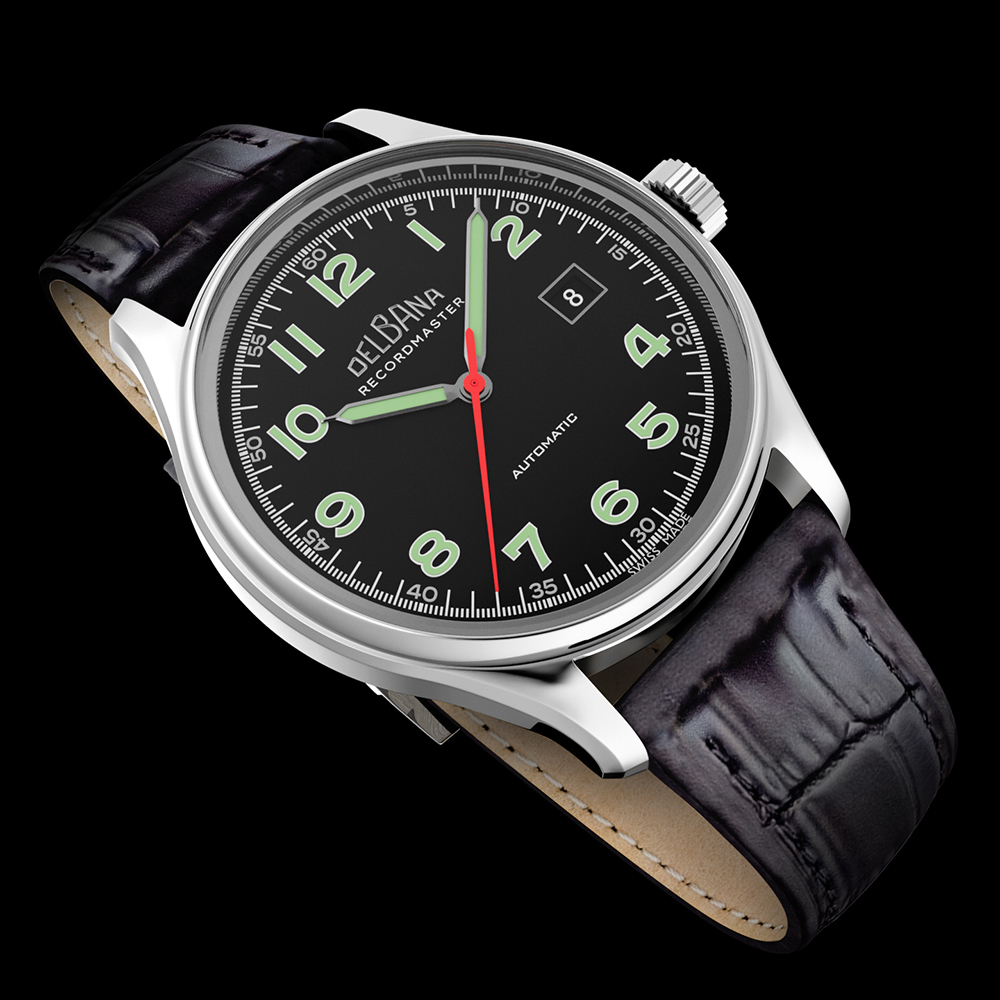 Zegarek męski Delbana recordmaster 41602.722.6.032 - duże 2