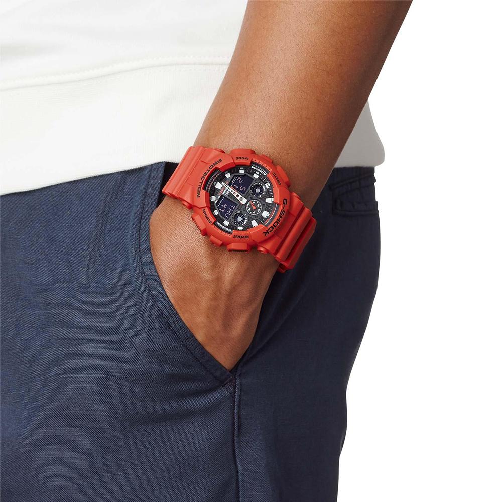 Zegarek męski Casio g-shock original GA-100B-4AER - duże 5