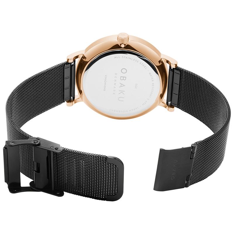 Zegarek męski Obaku Denmark slim V246GMVBMB - duże 3