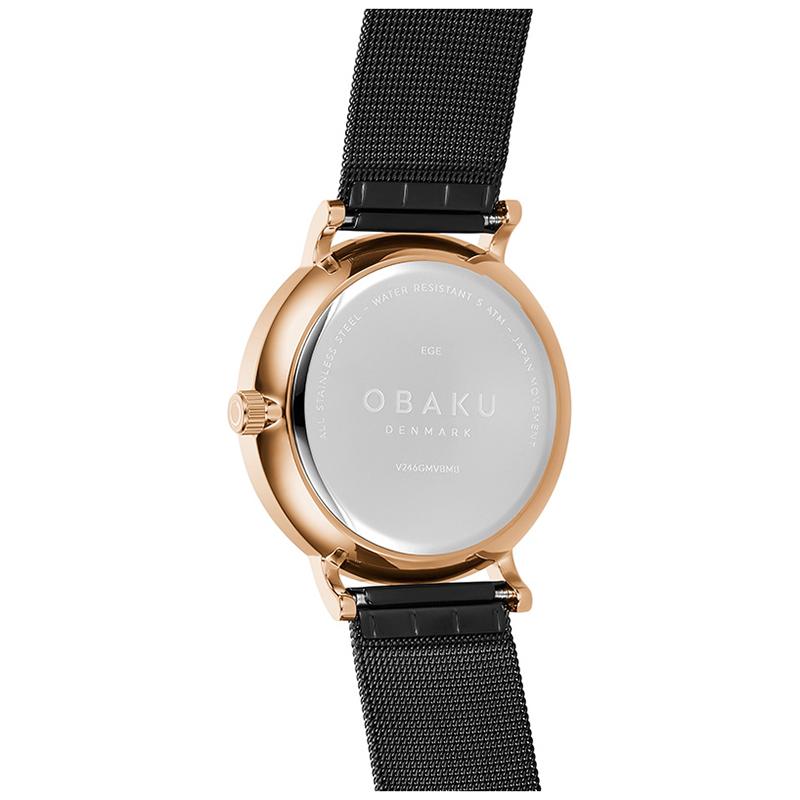 Zegarek męski Obaku Denmark slim V246GMVBMB - duże 2