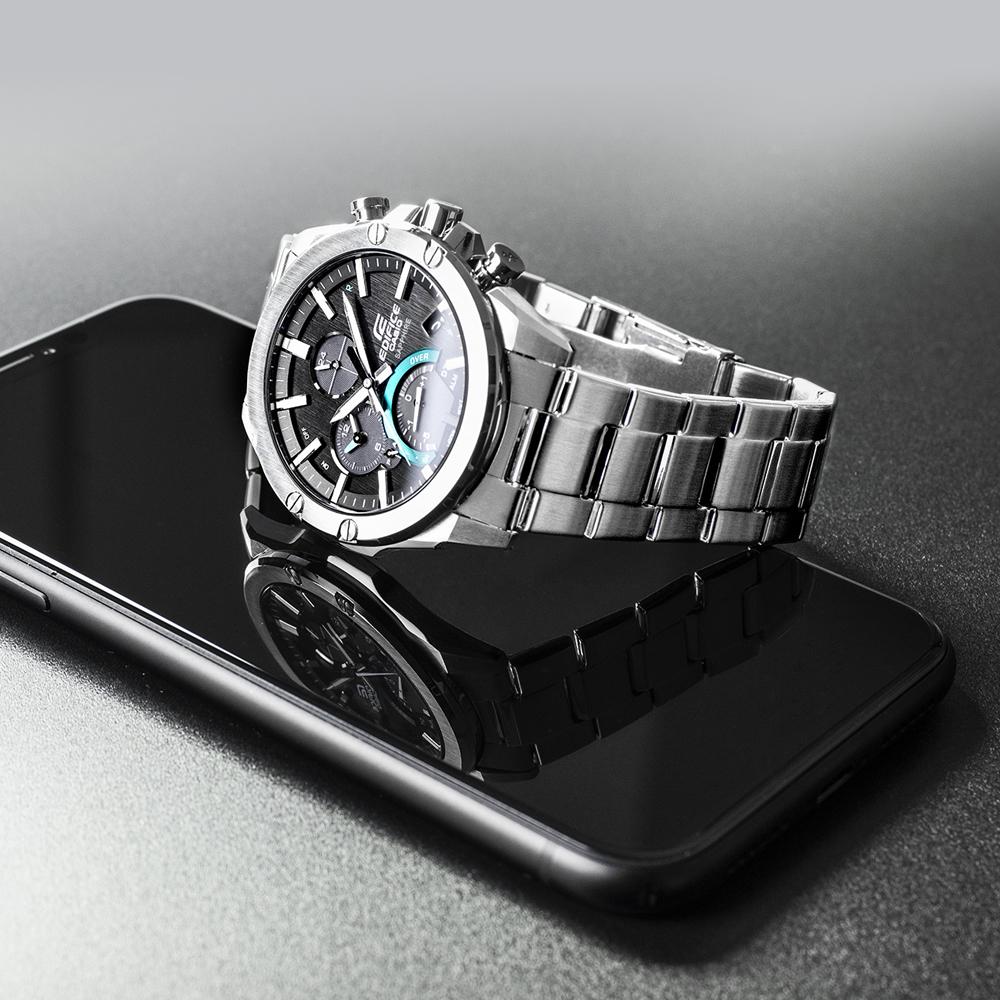 Zegarek męski Casio edifice premium EQB-1000D-1AER - duże 3