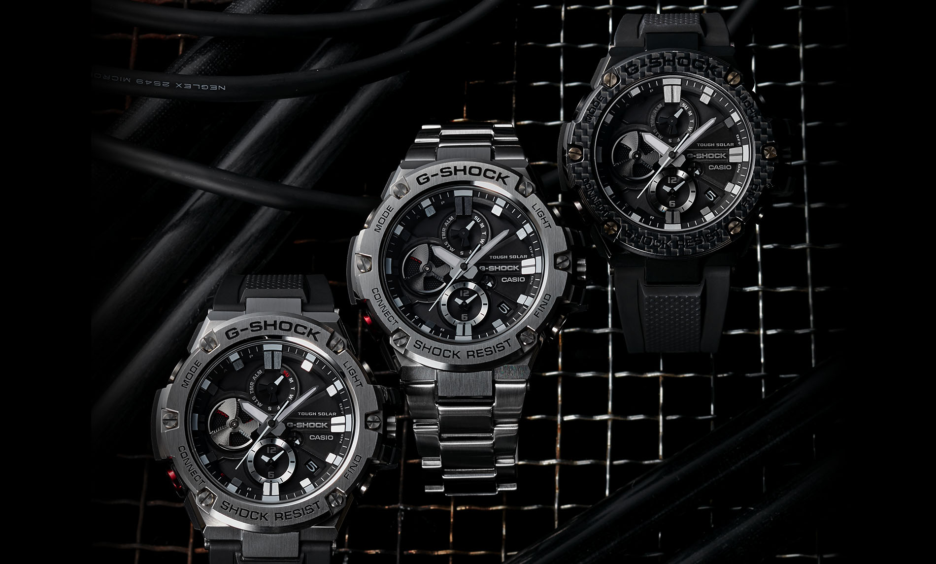 Zegarek męski Casio g-shock g-steel GST-B100D-1AER - duże 7
