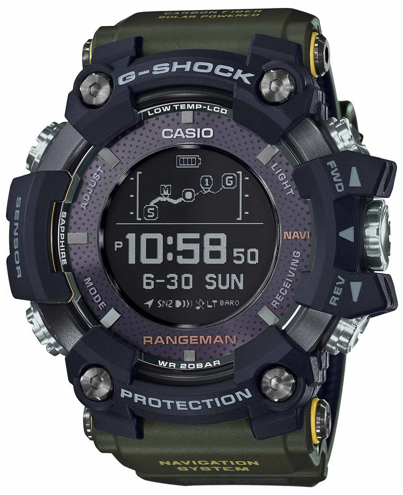 Zegarek męski Casio g-shock master of g GPR-B1000-1BER - duże 1