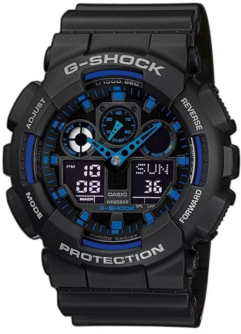 Zegarek męski Casio g-shock original GA-100-1A2ER - duże 1