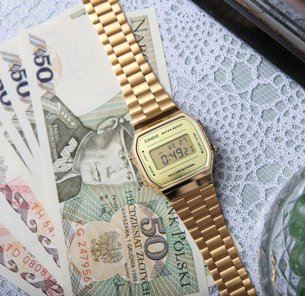 Zegarek męski Casio casio retro maxi A168WEGM-9EF - duże 3