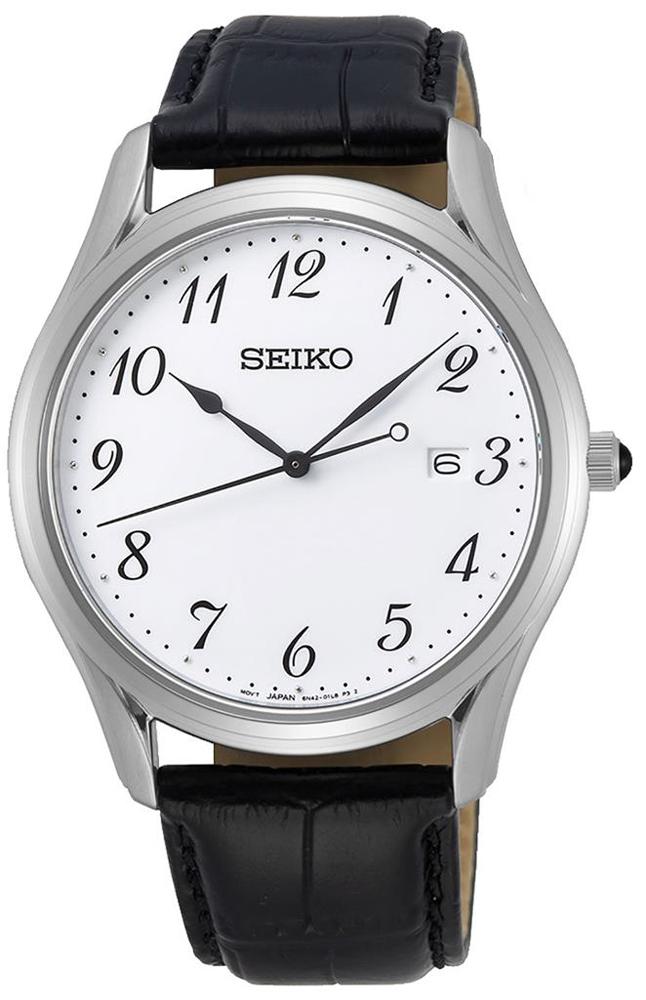 Zegarek męski Seiko classic SUR303P1 - duże 1