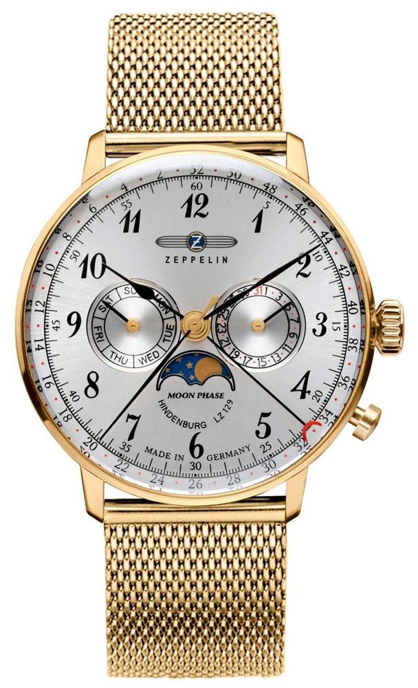 Zegarek męski Zeppelin hindenburg 7038M-1 - duże 1
