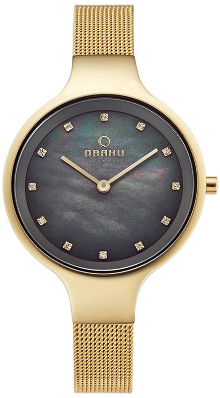 Zegarek damski Obaku Denmark slim V173LXGJMG - duże 1