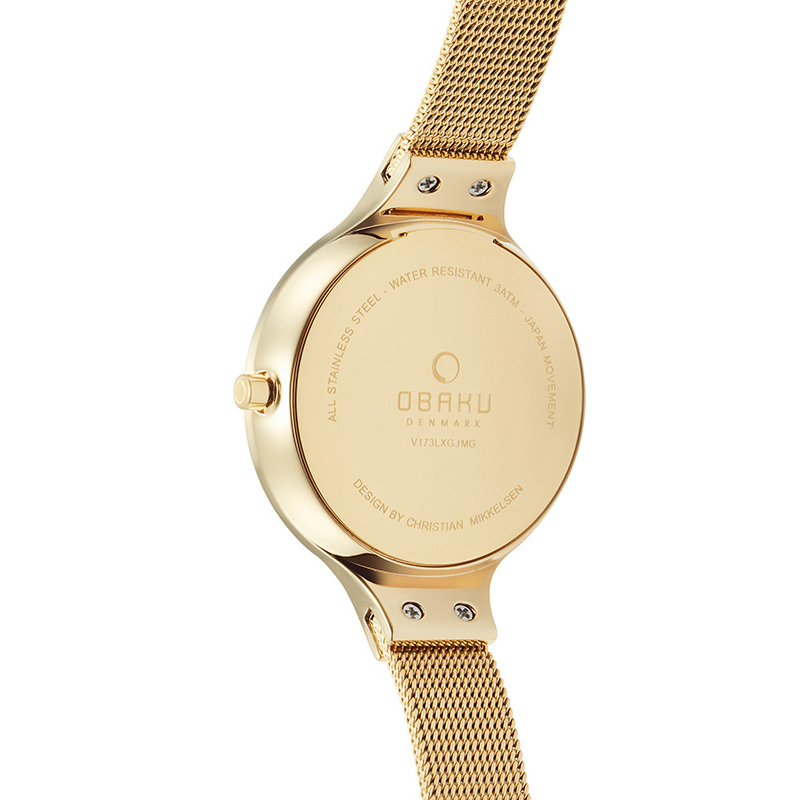 Zegarek damski Obaku Denmark slim V173LXGJMG - duże 2