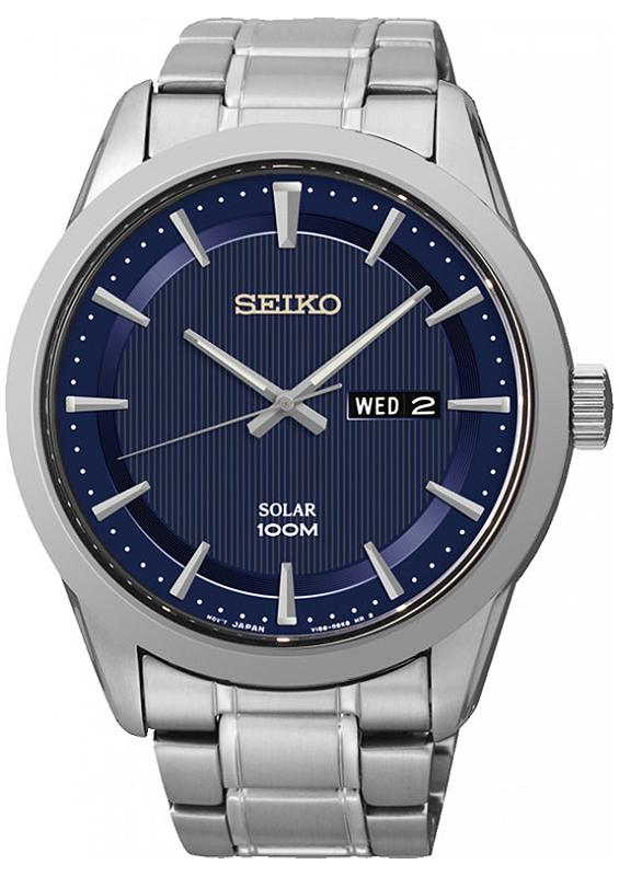 Zegarek męski Seiko solar SNE361P1 - duże 1