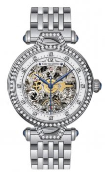 Zegarek damski Carl von Zeyten CVZ0071WHMB