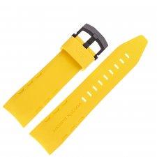 Vostok Europe Pasek Lunokhod - Silikon (4205) żółty z czarną kl.