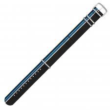 Traser TS-10574022mm Textile Strap Blue/Black